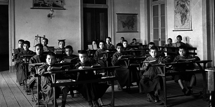 Alberto Carlos Lima,sala de aula de escola primária, 1900